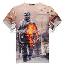 2015 summer new shirts o-neck 3D allover printed men's t-shirt