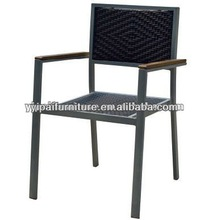 2014 stacking aluminum rattan cafe chairs YC302