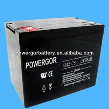 12v 78ah rechargeable VRLA battery