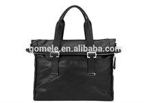 Hot sale mens business bag simple briefcase genuine leather handbag