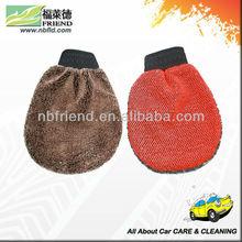 Microfiber auto ciniglia pulizia guanto guantone/micofiber lana sintetica guanto di lavaggio, mitt