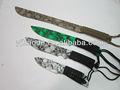 Camping faca de caça/faca ao ar livre/exército faca