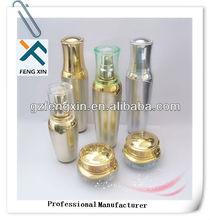 golden cosmetic packaging bottles and jars/cosmetic jars