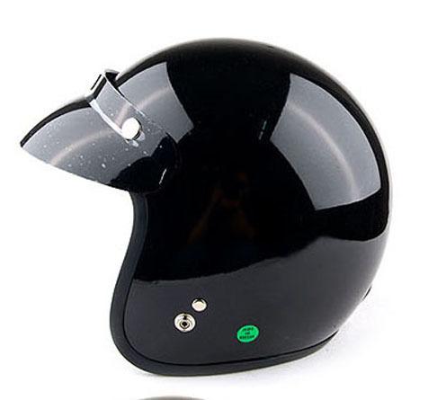 Japan style black retro open face motorcycle motor helmet