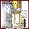 Wire Railing Spiral Stairs for Small Spaces