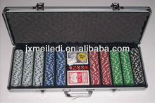 2013 Professional 500 poker chip set with silver case