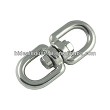 stainless steel eye and eye chain swivel