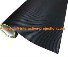 Best price great promotion 3D carbon fiber vinyl film with air drain matte black pvc film