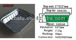 Newest!! Zhongnbo disposable aluminum foil container C059