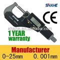 0-25mm 0.001mm electrónico digital micrómetro exterior