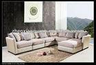 Modern wooden sofa living room furniture corner fabric sofa