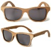 Cherry Frame Grey UV400 Polarzied Lenses Wayfarer Wooden Sunglasses