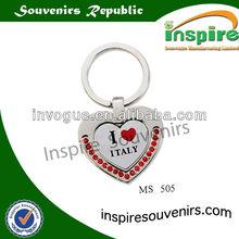 heart shape metal keychain,