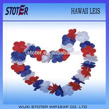 fashion polyester hawaii flower lei