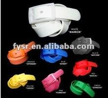 young & cool style silicone belt 2014 interchangable buckles belt 100% waterproof belts