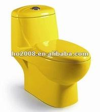Bathroom Colour Ceramic Siphon One-piece Toilet HO-8041