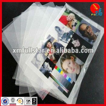 White PVC non-lamination for ink jet printablesheet