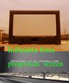 inflable parte delantera o trasera de la pantalla de proyección
