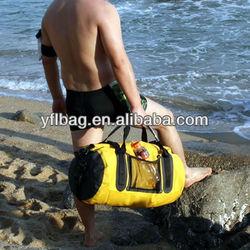 waterproof duffel bag for motorcycle 40liter yellow