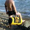 waterproof dry motorcycle duffle bag 40liter yellow