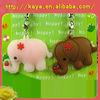 3d soft pvc lovely animal mobile phone pendants