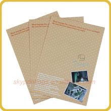 fancy design custom package art paper envelope for mailing