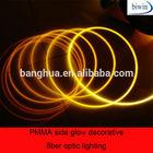 PMMA side glow decorative fiber optic lighting