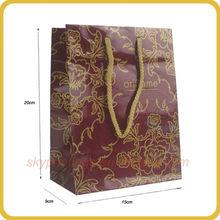 Shenzhen paper bag maker made cheap paper shopping packaging bag wholesale