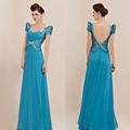 Brillant paillettes robe de bal en organza champagne. vestes bolero vestes pour les robes de soirée