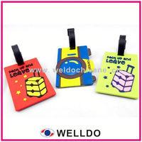 soft pvc travel bright colored luggage tag