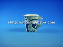 printed paper coffee cup 7oz w/handle/printed paper coffee cup