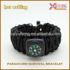 Plastic Buckle 550 Paracord Survival Bracelet Weaves Shackle with Compass