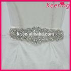 Wholesale beaded bridal sash crystal rhinestone belt for wedding dress WBB-004