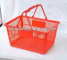 shopping flexible garden plastic basket with handle