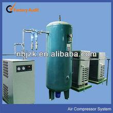 Medical air compressor system as hospital gas intercom system