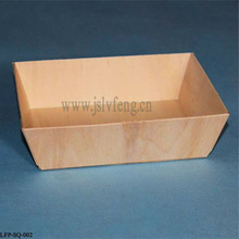 rectangular wooden food packaging size 180*120*38mm disposable poppar wooden container