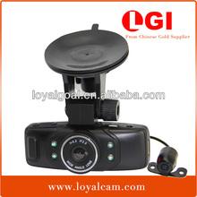 Allwinner X10 hd car dvr 2 channel with dual car camera 2.7 inch170 degree av input car recorder