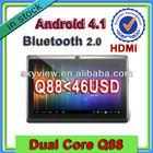 7 inch cheap tablet pc q88