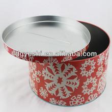 Round metal cake tin box packaging