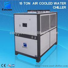 Hot sale 20 HP air cooled Industrial chillers factory in China for blow fill seal machines.