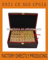 Bamboo Mahjong Manufacturer With Customized Logo Wooden Box