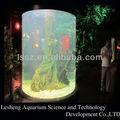 Grande rodada acrílico aquário