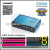 PD550 professional computer external sound card 7.1 channel sound adapter audio jack 3.5mm for recording,ect