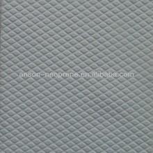 china embossed neoprene fabric sheet to slip resistance, embossed after neoprene laminated