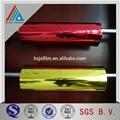 金銀、 赤、 緑、 青と紫の色の銅黒マイラーフィルム