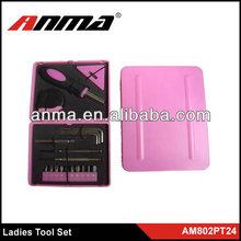 21pc lady magnetic bit holder set/ pink tool set