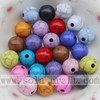 Decorative Wholesale Solid Round Crackle Jewelry Acrylic Beads
