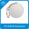 new advertising products pu stress golf keychain pu golf ball shape stress keychain