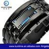 Waterproof LED Watch Black Metal Watches Men