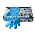 de alta calidad médicos desechables guantes de nitrilo azul